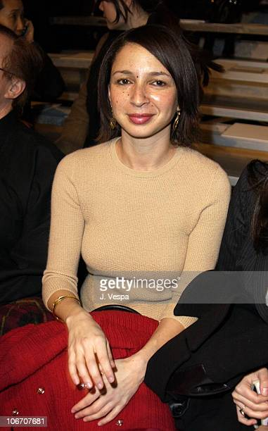 Maya Rudolph during MercedesBenz Fashion Week Fall 2003 Collections Marc Jacobs Front Row and Backstage at New York State Armory in New York City New...