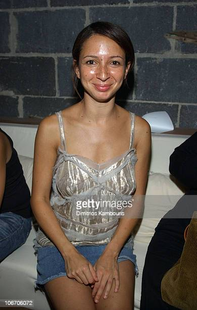 Maya Rudolph during MercedesBenz Fashion Week Spring Collections 2003 Marc Jacobs Show After Party at Maritime Hotel in New York City New York United...