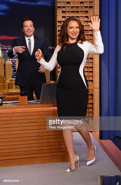 Maya Rudolph visits 'The Tonight Show Starring Jimmy Fallon' at Rockefeller Center on May 14 2014 in New York City