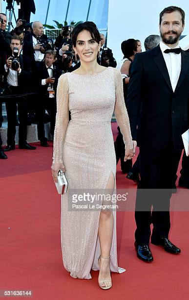 """Maya Sansa and Fabrice Scott attend the """"From The Land Of The Moon """" premiere during the 69th annual Cannes Film Festival at the Palais des Festivals..."""
