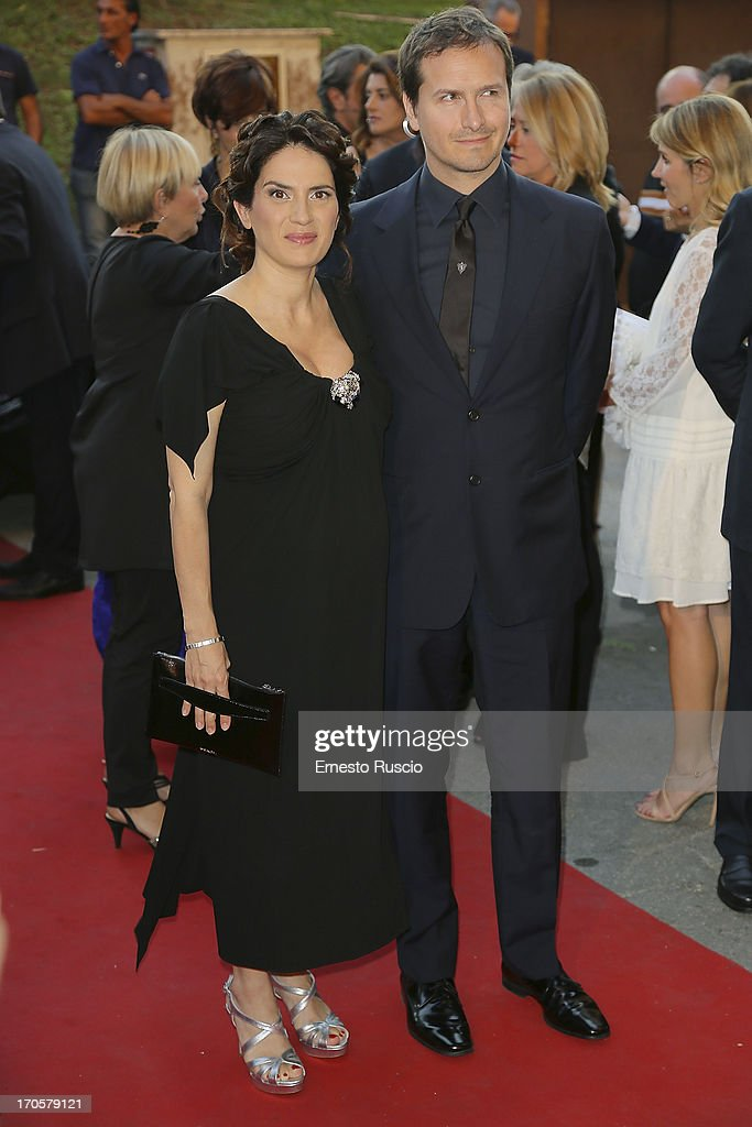 Maya Sansa(R) and her husband attend the David di Donatello Ceremony Awards at Dear on June 14, 2013 in Rome, Italy.