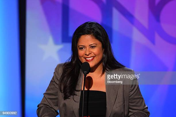 Maya Soetoro-Ng, half sister of Barack Obama, speaks during day one of the 2008 Democratic National Convention in Denver, Colorado, U.S., on Monday,...