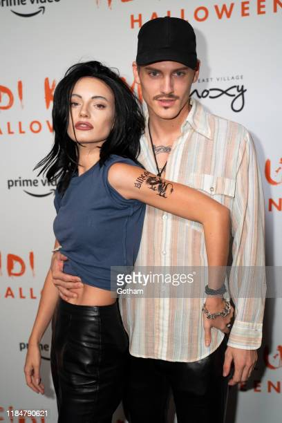 Maya Stepper and Mikkel Jensen attend Heidi Klum's 20th Annual Halloween Party at Cathédrale on October 31 2019 in New York City