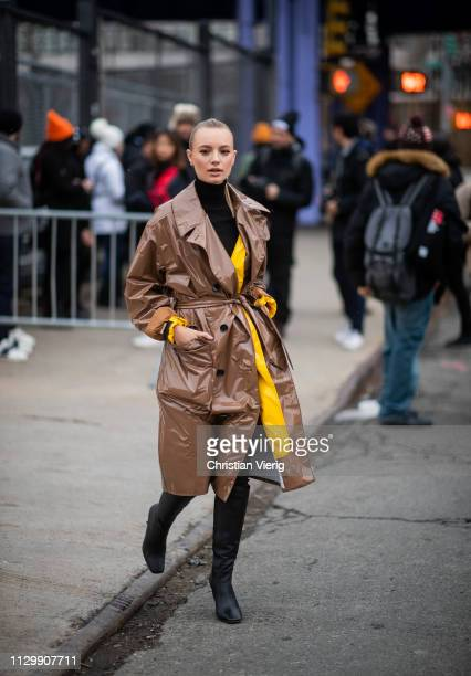 Maya Stepper is seen outside Boss during New York Fashion Week Autumn Winter 2019 on February 13 2019 in New York City