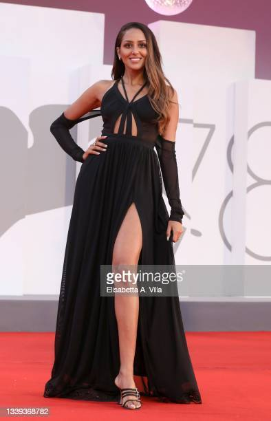 """Maya Talem attends the red carpet of the movie """"America Latina"""" during the 78th Venice International Film Festival on September 09, 2021 in Venice,..."""