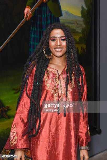 Maya Taylor attends Opening Reception for Kehinde Wiley Trickster and Laurent Grasso Elysee at Sean Kelly Gallery on May 5 2017 in New York City