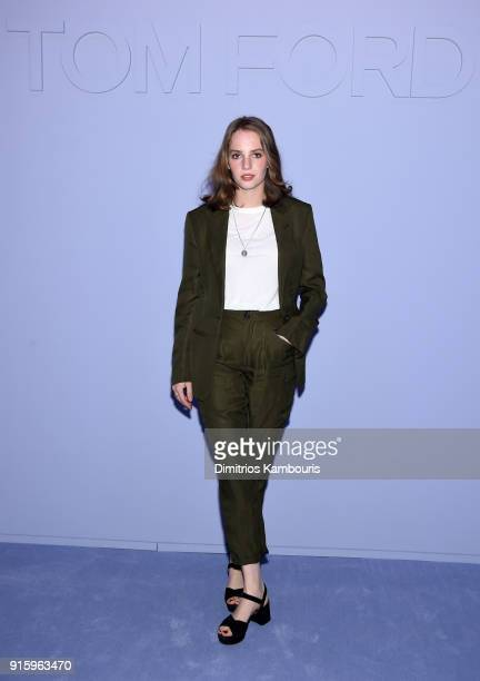 Maya ThurmanHawke attends the Tom Ford Fall/Winter 2018 Women's Runway Show at the Park Avenue Armory on February 8 2018 in New York City
