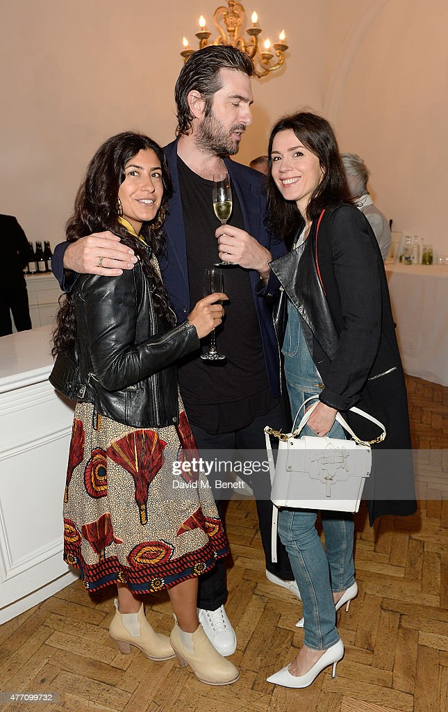 Maya Turnbull, Ben Cooper and Lara Bohinc attend the brunch for REDA in collaboration with The Woolmark Company and Magnum celebrating 150 years, at One Marylebone on June 14, 2015 in London, England.