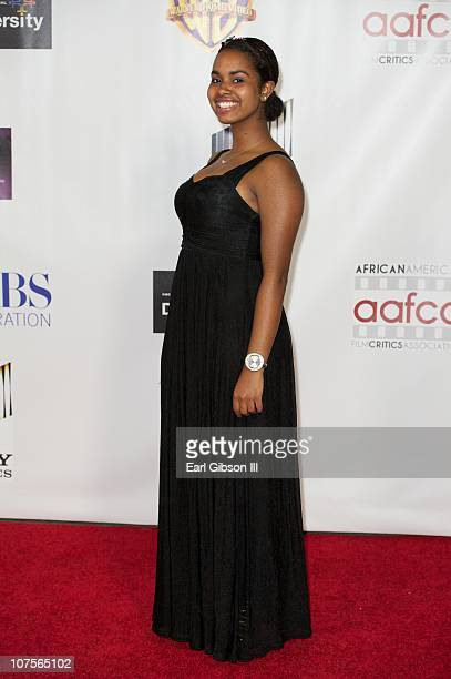 Maya Van Peebles appears on the red carpet for the 2nd Annual AAFCA Awards on December 13 2010 in Los Angeles California