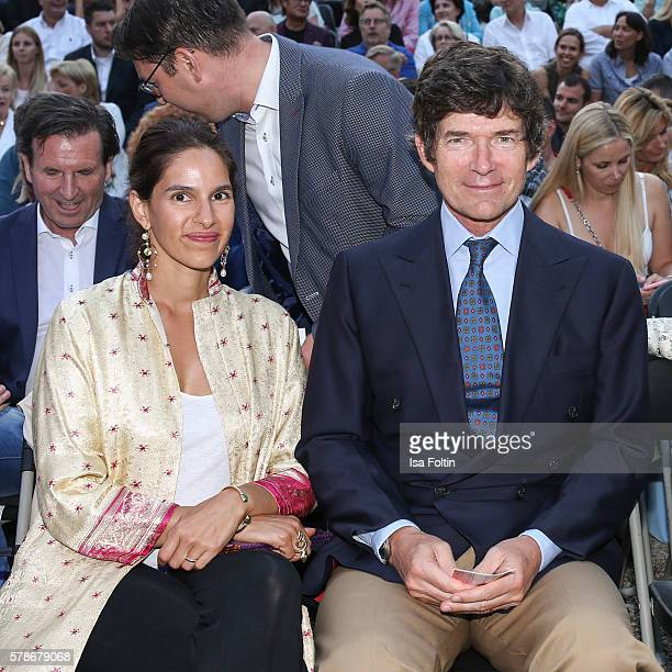 Maya von Habsburg and Maximilian von Habsburg attend the Tom Jones Concert during the Thurn Taxis Castle Festival 2016 on July 21 2016 in Regensburg...