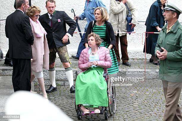 Maya von Schoenburg Glauchau and her daughter Pilar attend the wedding of Maria Theresia Princess von Thurn und Taxis and Hugo Wilson at St Joseph...