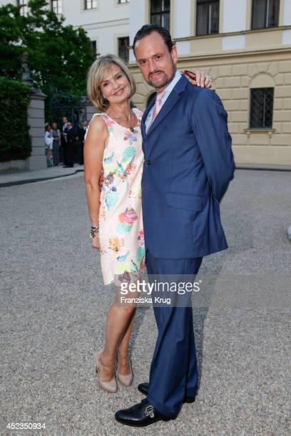 Maya von SchoenburgGlauchau and her brother Alexander von SchoenburgGlauchau attend the Thurn Taxis Castle Festival 2014 Rigoletto on July 18 2014 in...
