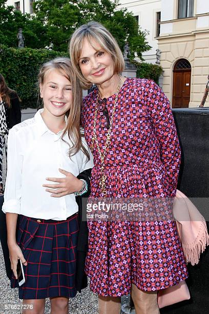 Maya von SchoenburgGlauchau and her daughter Carlotta Hipp attend the Thurn Taxis Castle Festival 2016 'Carmen' Opera Premiere on July 15 2016 in...