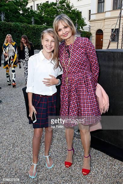 Maya von SchoenburgGlauchau and her daughter Carlotta Hipp attend the Thurn Taxis Castle Festival 2016 'Carmen' Opera Premiere on July 15 2016 in...