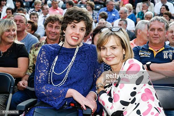 Maya von SchoenburgGlauchau and her daughter Pilar von SchoenburgGlauchau attend 'All you need is love Das Beatles Musical' during the Thurn Taxis...