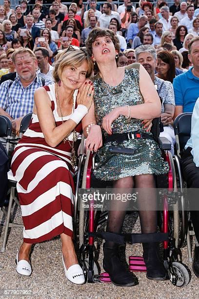 Maya von SchoenburgGlauchau and her daughter Pilar von SchoenburgGlauchau attend the Sarah Connor Concert during the Thurn Taxis Castle Festival 2016...