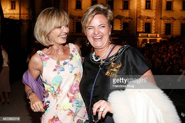 Maya von SchoenburgGlauchau and her sister Gloria von Thurn und Taxis attends the Thurn Taxis Castle Festival 2014 Rigoletto on July 18 2014 in...