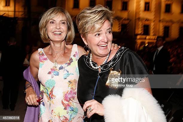 Maya von SchoenburgGlauchau and her sister Gloria von Thurn und Taxis attends the Thurn Taxis Castle Festival 2014 Rigoletto on July 18 2014 in...