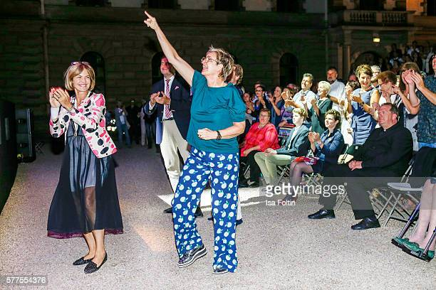 Maya von SchoenburgGlauchau and her sister Gloria von Thurn und Taxis dance at 'All you need is love Das Beatles Musical' during the Thurn Taxis...
