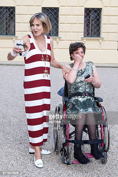 Maya von SchoenburgGlauchau with her daughter Pilar von SchoenburgGlauchau attend the Sarah Connor Concert during the Thurn Taxis Castle Festival...