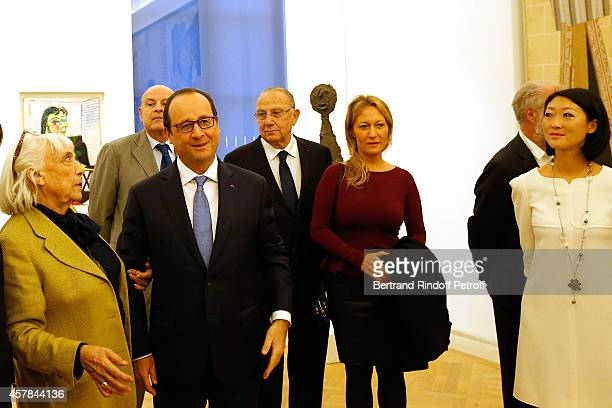 Maya Widmaier Picasso daughter of Pablo Picasso French President Francois Hollande Diana Widmaier Picasso Grand Daughter of pablo Picasso and...
