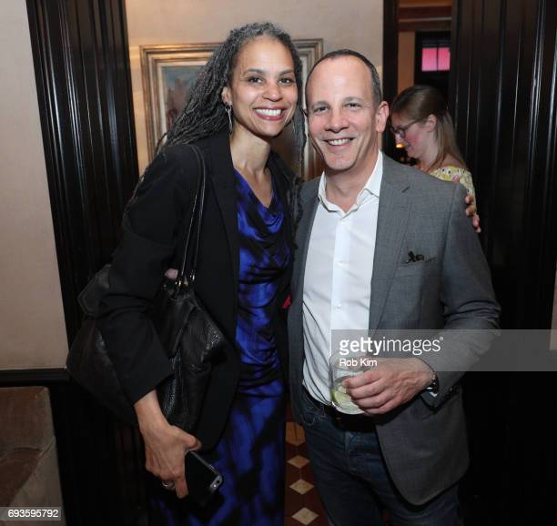 Maya Wiley and Andrew Essex attend the book launch party for Andrew Essex's The End of Advertising at Greenwich Hotel on June 7 2017 in New York City