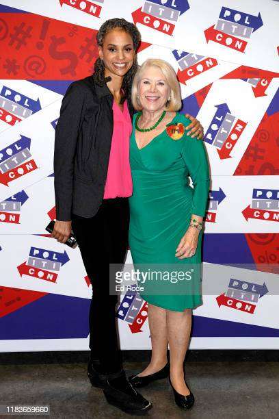 Maya Wiley and Jill WineBanks attend the 2019 Politicon at Music City Center on October 26 2019 in Nashville Tennessee