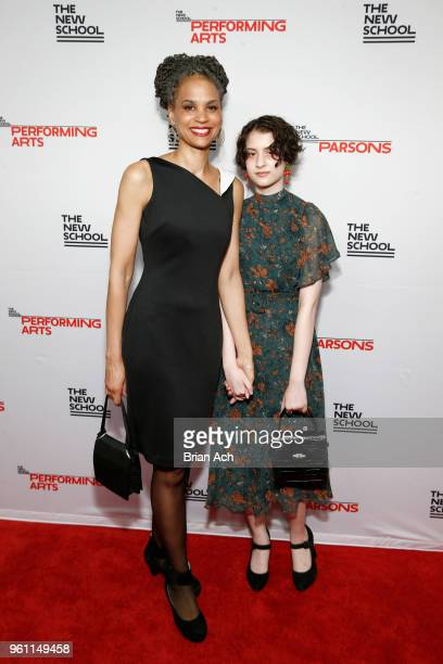 Maya Wiley and Kai Wiley attend the 70th Annual Parsons Benefit on May 21 2018 in New York City