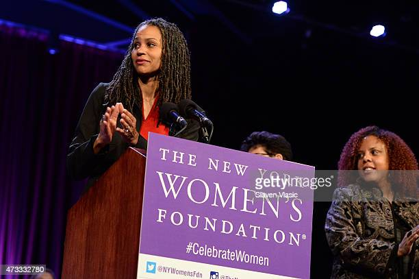 Maya Wiley speaks onstage during attends The New York Women's Foundation Celebrating Women Breakfast at Marriott Marquis Hotel on May 14 2015 in New...
