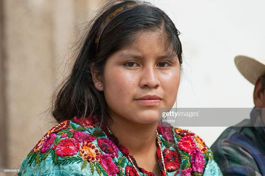 Maya Woman, Antigua, Sacatep : News Photo