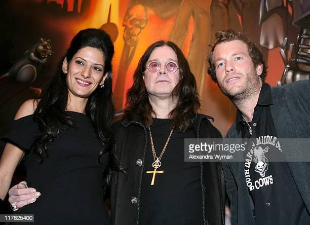Maya Yogev Ozzy Osbourne and Darren Romanelli during Black Sabbath Resurrection Reveals Their Untold Story Through Retrospective Art and New Black...