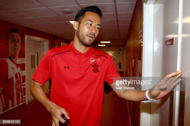Maya Yoshida arrives prior to the preseason friendly between Southampton FC and Sevilla at St Mary's Stadium on August 5 2017 in Southampton England
