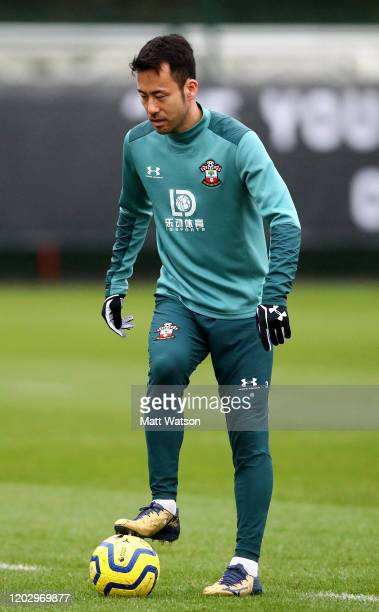 Maya Yoshida controls the ball during a Southampton FC training session at the Staplewood Campus on January 30 2020 in Southampton England