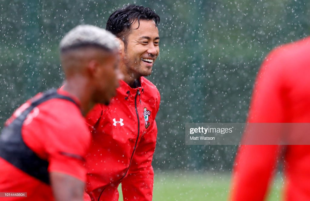 Maya Yoshida during a Southampton FC training session at the Staplewood Campus on August 10, 2018 in Southampton, England.