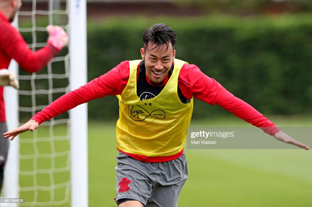 Maya Yoshida during a Southampton FC training session at the Staplewood Campus on October 13, 2017 in Southampton, England.