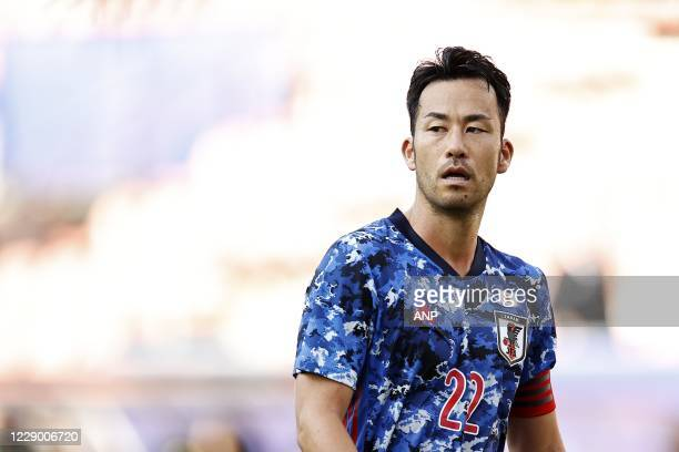 Maya Yoshida of Japan during the friendly match between Japan and Cameroon at Stadion Galgenwaard on October 09, 2020 in Utrecht, Netherlands. ANP...