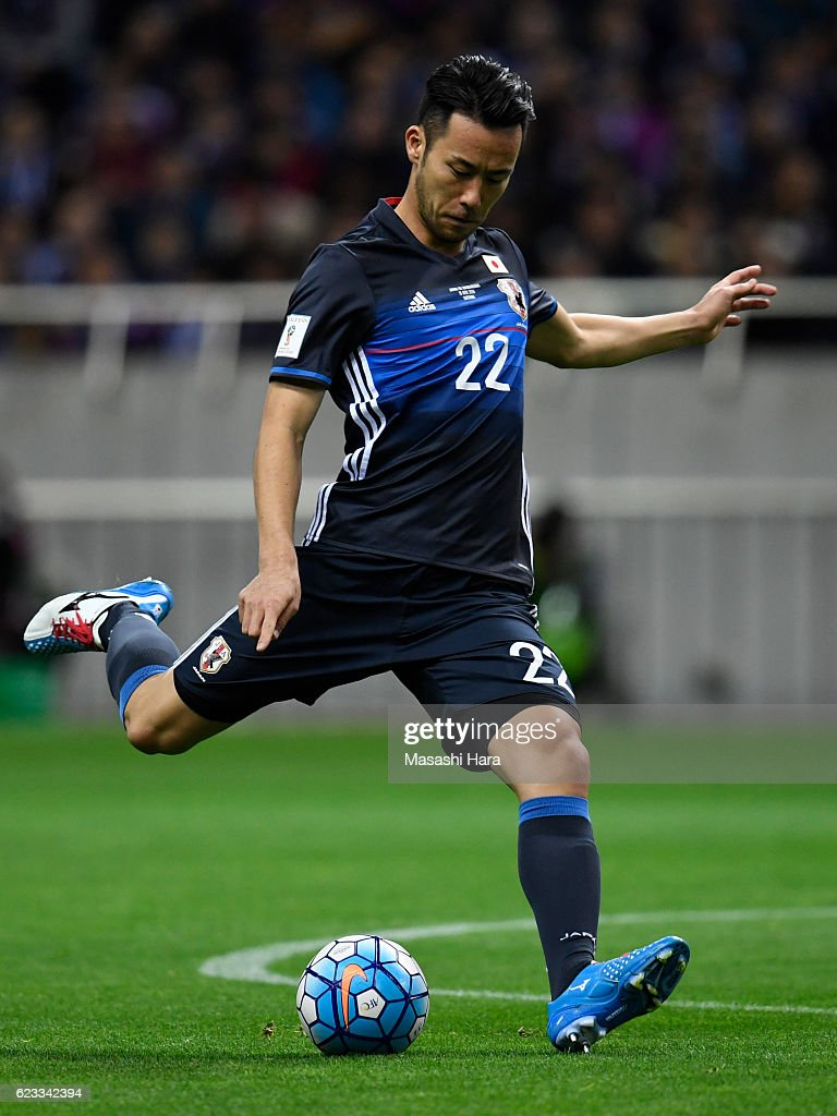 Maya Yoshida of Japan in action during the 2018 FIFA World Cup Qualifier match between Japan and Saudi Arabia at Saitama Stadium on November 15, 2016 in Saitama, Japan.