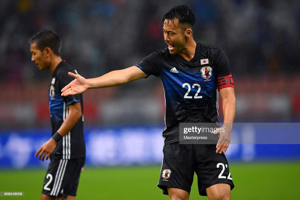 Maya Yoshida of Japan in action during the international friendly match between Japan and New Zealand at Toyota Stadium on October 6, 2017 in Toyota, Aichi, Japan.