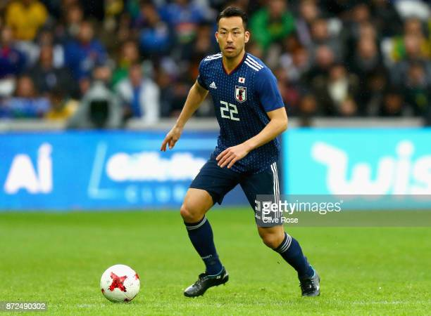 Maya Yoshida of Japan in action during the international friendly match between Brazil and Japan at Stade PierreMauroy on November 10 2017 in Lille...