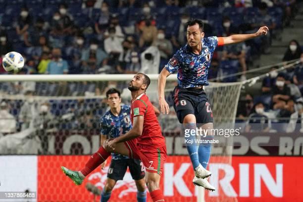 Maya Yoshida of Japan in action FIFA World Cup Asian Qualifier Final Round Group B match between Japan and Oman at Panasonic Stadium Suita on...
