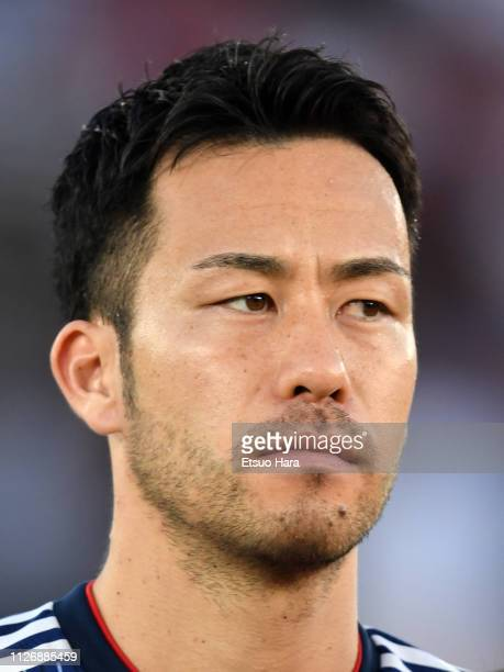 Maya Yoshida of Japan looks on prior to the AFC Asian Cup final match between Japan and Qatar at Zayed Sports City Stadium on February 01 2019 in Abu...