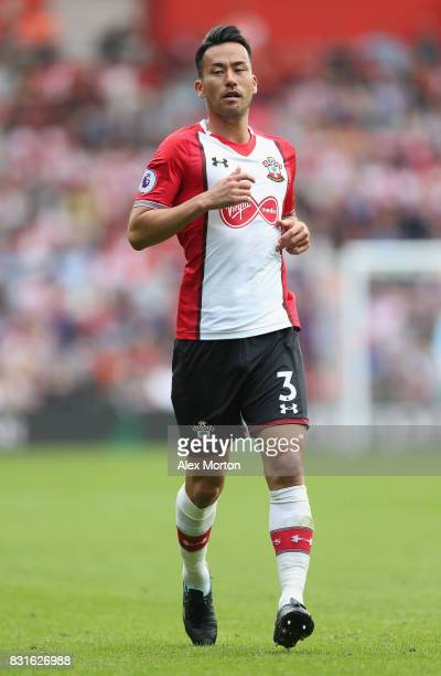 Maya Yoshida of Southampton during the Premier League match between Southampton and Swansea City at St Mary's Stadium on August 12 2017 in...
