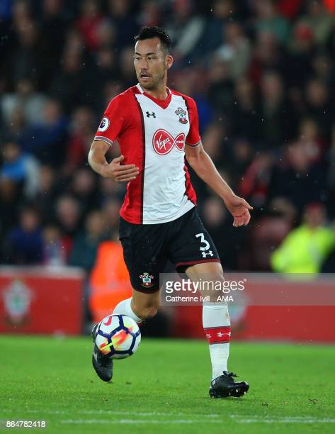Maya Yoshida of Southampton during the Premier League match between Southampton and West Bromwich Albion at St Mary's Stadium on October 21 2017 in...