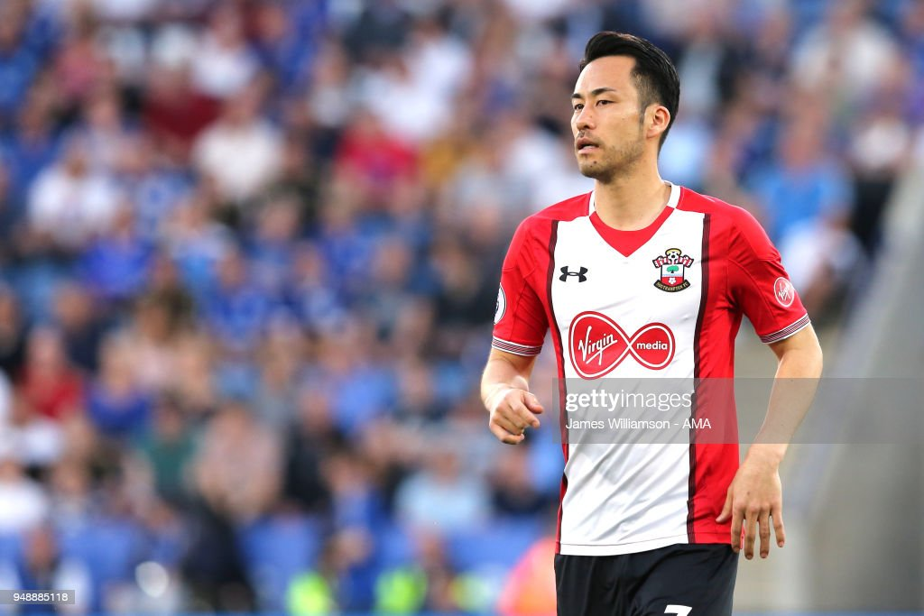 Maya Yoshida of Southampton during the Premier League match between Leicester City and Southampton at The King Power Stadium on April 19, 2018 in Leicester, England.