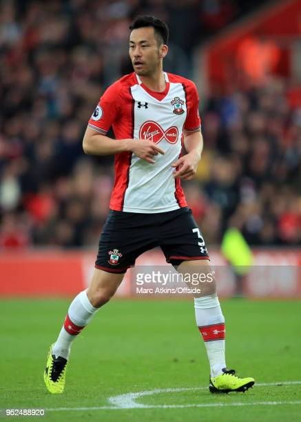 Maya Yoshida of Southampton during the Premier League match between Southampton and AFC Bournemouth at St Mary's Stadium on April 28 2018 in...