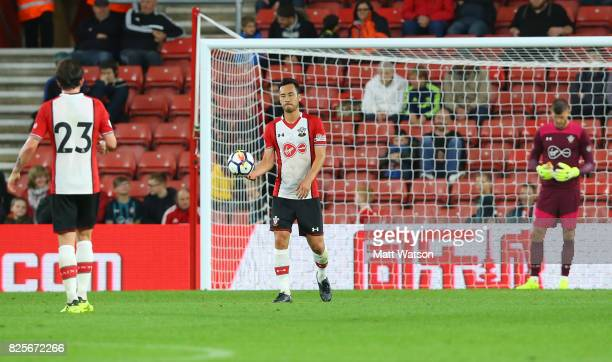 Maya Yoshida of Southampton during the preseason friendly between Southampton FC and Augsburg at St Mary's Stadium on August 2 2017 in Southampton...