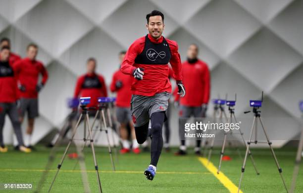 Maya Yoshida of Southampton FC during a training session at the Staplewood Campus on February 8 2018 in Southampton England