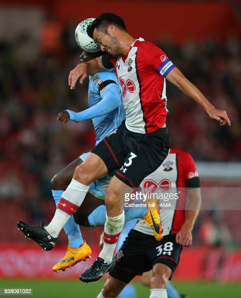 Maya Yoshida of Southampton in action during the Carabao Cup Second Round match between Southampton and Wolverhampton Wanderers at St Mary's Stadium...