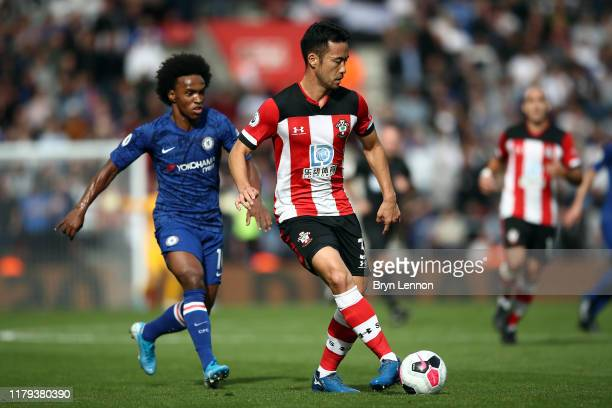 Maya Yoshida of Southampton in action during the Premier League match between Southampton FC and Chelsea FC at St Mary's Stadium on October 06 2019...
