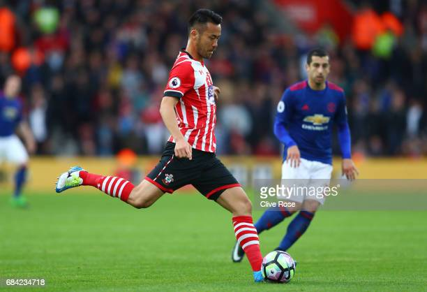Maya Yoshida of Southampton in action during the Premier League match between Southampton and Manchester United at St Mary's Stadium on May 17 2017...